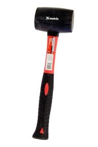 Киянка черная резиновая, фибергласовая обрезинная рукоятка 225 гр 225гр