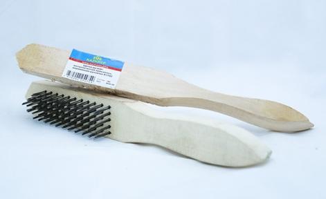 Щетка ручная, металлическая проволка, деревянная рукоятка А1182 104