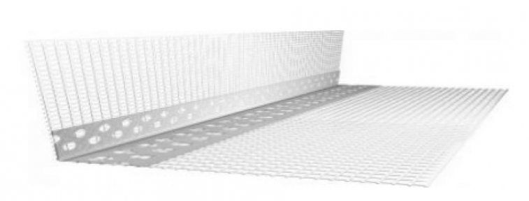PVC  уголок с белой сеткой_x000D_ 25*25*2,7