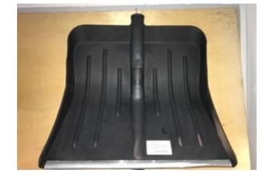 Лопата снеговая пластиковая №5с оцинкованной планкой 430*490мм