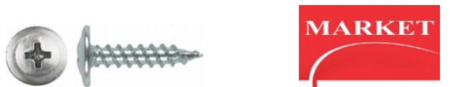 ШУРУП С НАПРЕССОВАННОЙ ШАЙБОЙ ДЛЯ КРЕПЛЕНИЯ ЛИСТОВ МЕТАЛЛА ТОЛЩИНОЙ ДО 0,9 ММ 4,2х13 Market